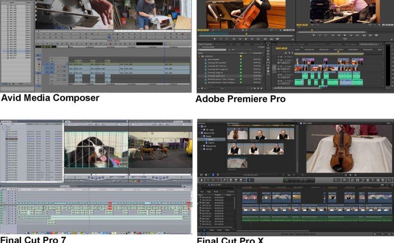 Final Cut Pro vs  Avid Media Composer vs  Adobe Premiere