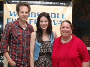 Actress Michelle Monaghan, director James Mottern, and Judy Laster at the screening of Trucker.
