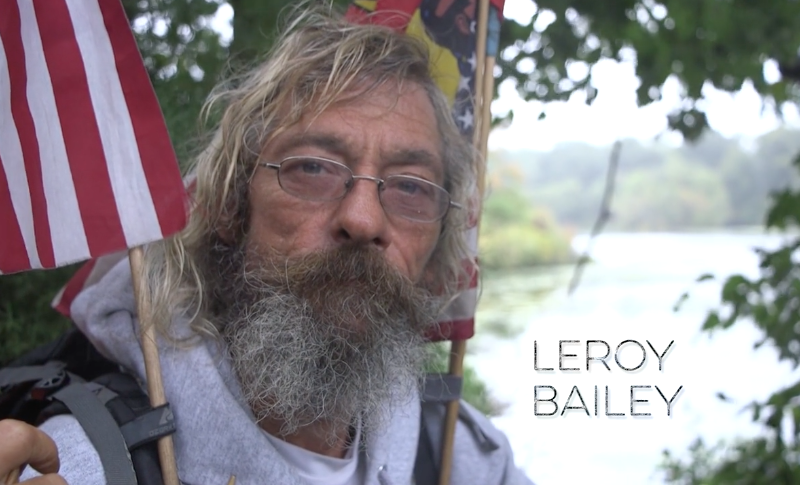 A still of Leroy Bailey from Brian McPartlan's documentary Praying for Change.