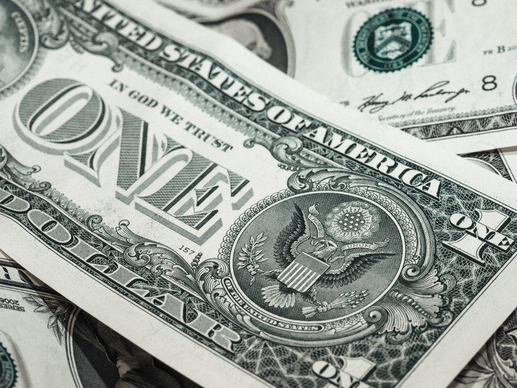 Enlarged photo of a dollar bill