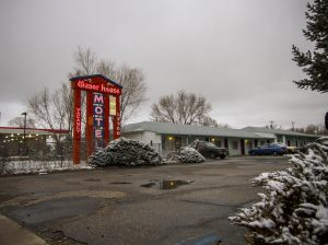 The Manor House, the Colorado motel, where Gerald Foos watched his guests.
