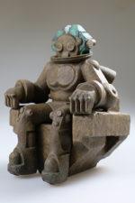 Ancient alien statue miniature - Painted 3D print